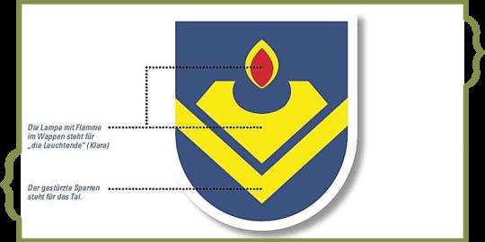 Das Wappen von Klarenthal.